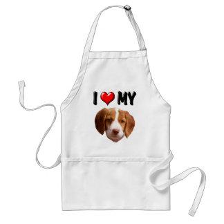 Amo mi perro de aguas de Bretaña Delantal