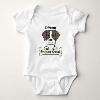Amo mi perro de aguas de Bretaña Mameluco De Bebé