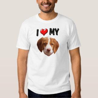 Amo mi perro de aguas de Bretaña Polera