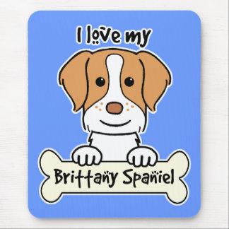 Amo mi perro de aguas de Bretaña Tapete De Raton