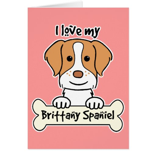 Amo mi perro de aguas de Bretaña Tarjeta Pequeña