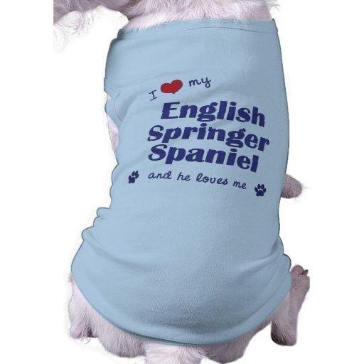 Amo mi perro de aguas de saltador inglés (el perro camisas de perritos