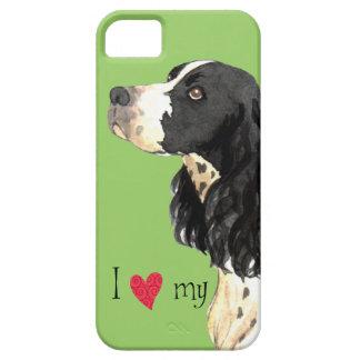 Amo mi perro de aguas de saltador inglés iPhone 5 Case-Mate fundas