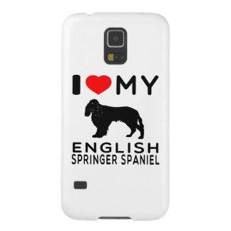 Amo mi perro de aguas de saltador inglés funda de galaxy s5