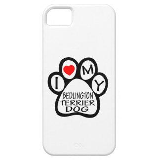 Amo mi perro de Bedlington Terrier iPhone 5 Funda