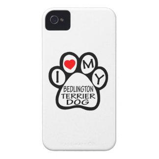 Amo mi perro de Bedlington Terrier iPhone 4 Cobertura