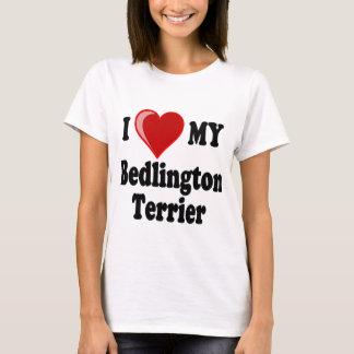 Amo mi perro de Bedlington Terrier Playera