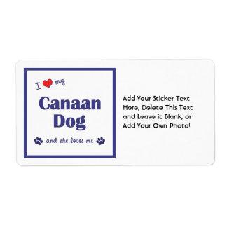 Amo mi perro de Canaan (el perro femenino) Etiquetas De Envío