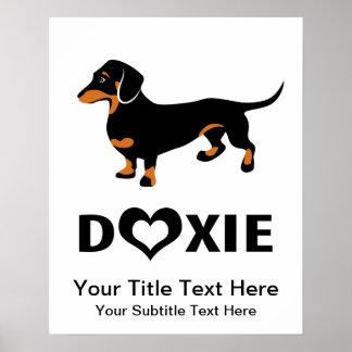 Amo mi perro de Doxie - Dachshund lindo Póster