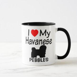 Amo mi perro de Havanese Taza