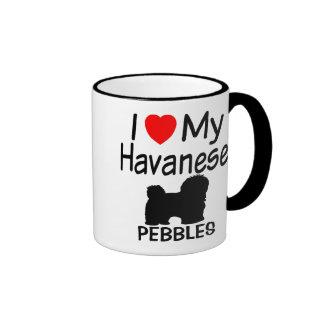Amo mi perro de Havanese Taza De Dos Colores