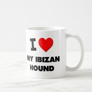Amo mi perro de Ibizan Taza De Café