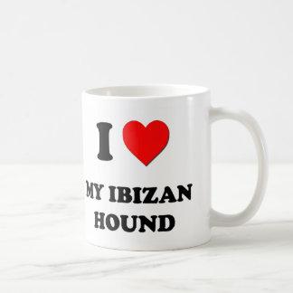 Amo mi perro de Ibizan Tazas De Café