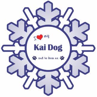 Amo mi perro de Kai (el perro masculino) Adorno Fotoescultura