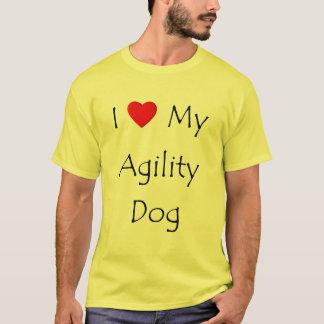 Amo mi perro de la agilidad playera