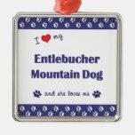 Amo mi perro de la montaña de Entlebucher (el perr Adorno Para Reyes