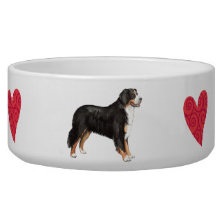 Amo mi perro de montaña de Bernese Comedero Para Mascota