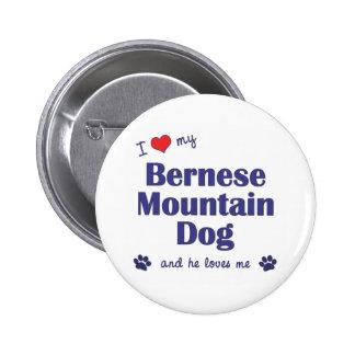 Amo mi perro de montaña de Bernese (el perro mascu Pin Redondo 5 Cm
