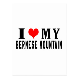 Amo mi perro de montaña de Bernese Postal