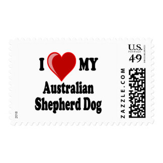 Amo mi perro de pastor australiano franqueo