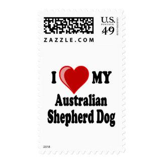 Amo mi perro de pastor australiano envio