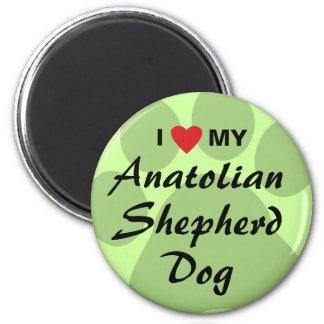 Amo mi perro de pastor de Anatolia Imán Redondo 5 Cm