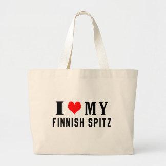 Amo mi perro de Pomerania finlandés Bolsas De Mano