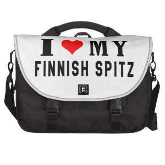Amo mi perro de Pomerania finlandés Bolsa De Ordenador
