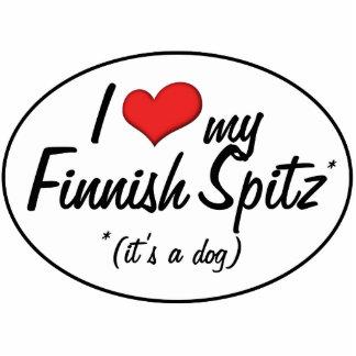 Amo mi perro de Pomerania finlandés (es un perro) Escultura Fotografica