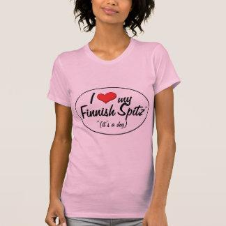Amo mi perro de Pomerania finlandés (es un perro) Camisetas