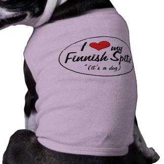 Amo mi perro de Pomerania finlandés (es un perro) Camisas De Perritos