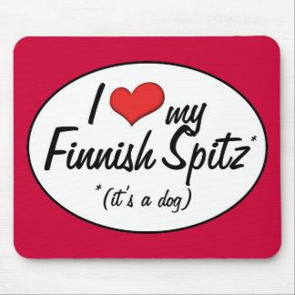 Amo mi perro de Pomerania finlandés (es un perro) Alfombrilla De Raton