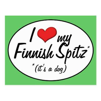 Amo mi perro de Pomerania finlandés (es un perro) Postales