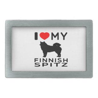 Amo mi perro de Pomerania finlandés Hebillas Cinturón Rectangulares