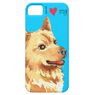 Amo mi perro de Pomerania finlandés iPhone 5 Carcasa