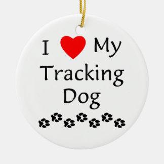 Amo mi perro de seguimiento (las impresiones de la ornamentos de reyes magos