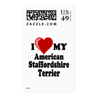Amo mi perro de Staffordshire Terrier americano Sellos