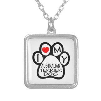 Amo mi perro de Terrier australiano Pendientes