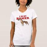 Amo mi perro del boxeador camisetas