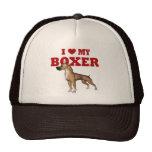 Amo mi perro del boxeador gorros bordados