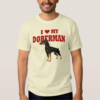 Amo mi perro del Doberman Playeras