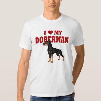 Amo mi perro del Doberman Remera