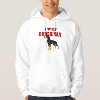 Amo mi perro del Doberman Sudaderas