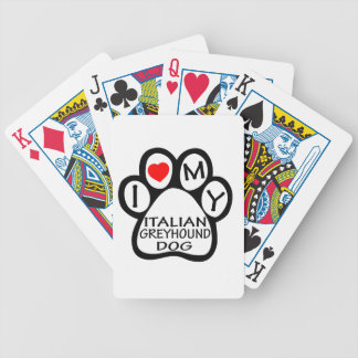 Amo mi perro del galgo italiano baraja cartas de poker