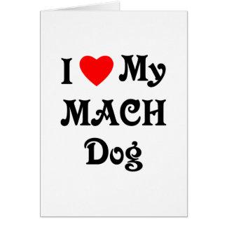 Amo mi perro del MACH Tarjeta Pequeña
