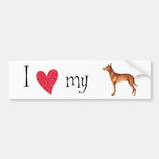 Amo mi perro del Pharaoh Etiqueta De Parachoque