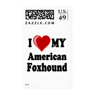 Amo mi perro del raposero americano sellos