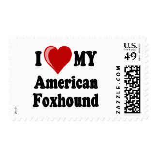 Amo mi perro del raposero americano franqueo
