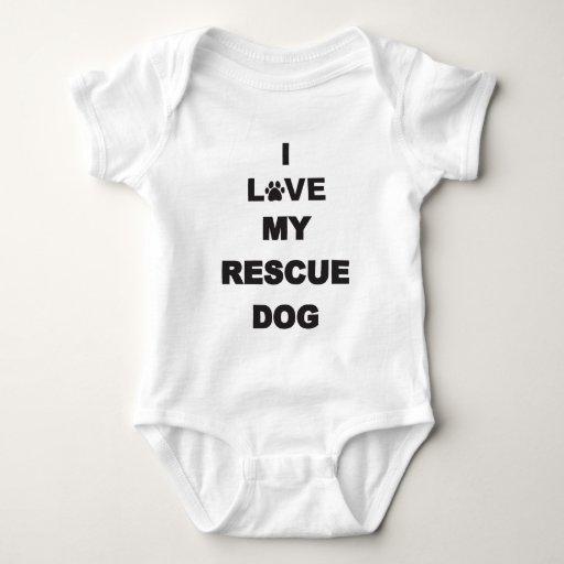 Amo mi perro del rescate playera