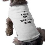 Amo mi perro del rescate ropa de perro